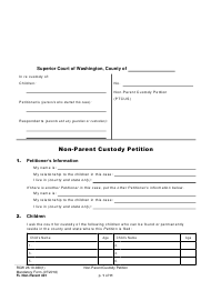"Form FL Non-Parent401 ""Non-parent Custody Petition"" - Washington"