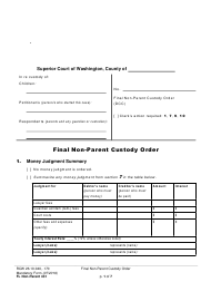 "Form FL Non-Parent431 ""Final Non-parent Custody Order"" - Washington"
