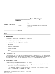 "Form MP220 ""Order Finding Defendant Competent (Ordct)"" - Washington"