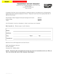 "Form 3000-240-030 ""Fingerprint Notary Request"" - Washington"