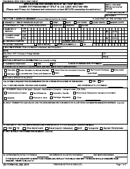 "DD Form 149 ""Application for Correction of Military Record Under the Provisions of Title 10, U.S. Code, Section 1552"""