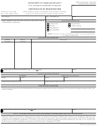 "CBP Form 4455 ""Certificate of Registration"""