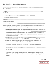 """Parking Spot Rental Agreement Template - Savel and the City"""