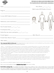Physician Release for Wrestler to Participate With Skin Lesion(S) Template - Ihsaa