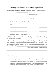 """Real Estate Purchase Agreement Template"" - Michigan"