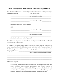"""Real Estate Purchase Agreement Template"" - New Hampshire"