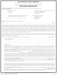 """Oklahoma Uniform Contract of Sale of Real Estate - New Home Construction"" - Oklahoma"