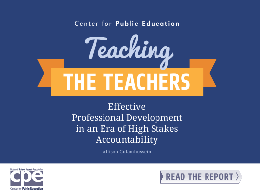 """""""Teaching the Teachers: Effective Professional Development in an Era of High Stakes Accountability - Center for Public Education"""" Download Pdf"""