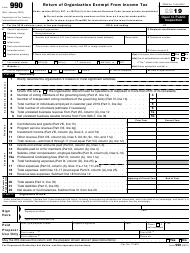"IRS Form 990 ""Return of Organization Exempt From Income Tax"", 2019"