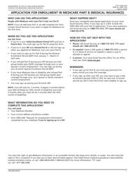 "Form CMS-40B ""Application for Enrollment in Medicare Part B (Medical Insurance)"""