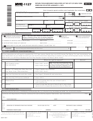 "Form NYC-1127 ""Return for Nonresident Employees of the City of New York"" - New York City, 2019"