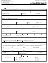 "Form I-589 ""Application for Asylum and for Withholding of Removal"""