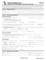 "Form TSP-19 ""Transfer of Information Between Agencies"""