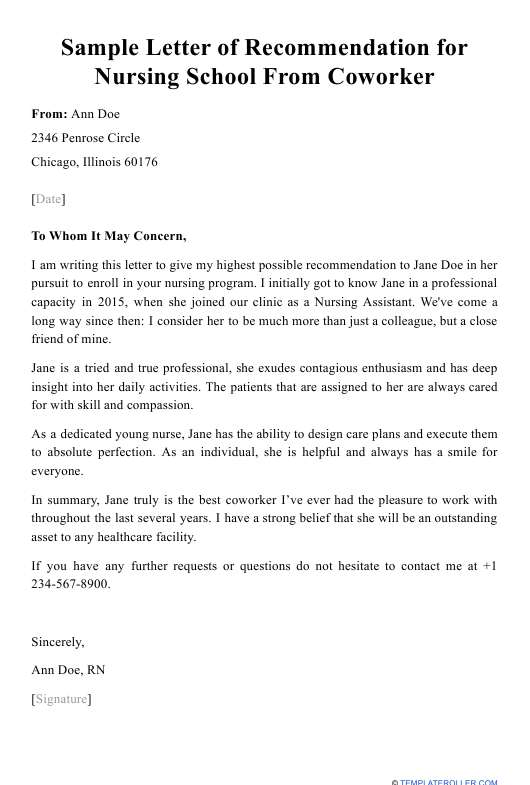 Generic Letter Of Recommendation Template from data.templateroller.com