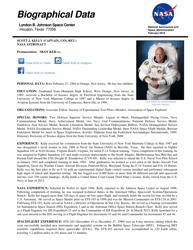 """""""Biographical Data - Scott J. Kelly"""""""
