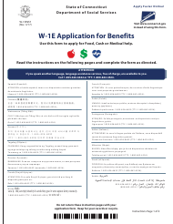 "Form W-1E ""Application for Benefits"" - Connecticut"