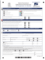 """Form W-1E """"Application for Benefits"""" - Connecticut, Page 5"""
