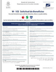 "Formulario W-1ES ""Solicitud De Beneficios"" - Connecticut (Spanish)"