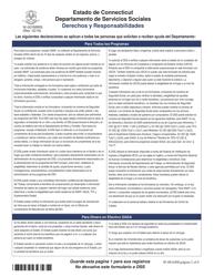 """Formulario W-1ES """"Solicitud De Beneficios"""" - Connecticut (Spanish), Page 19"""