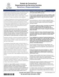 """Formulario W-1ES """"Solicitud De Beneficios"""" - Connecticut (Spanish), Page 20"""