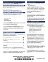 """Formulario W-1ES """"Solicitud De Beneficios"""" - Connecticut (Spanish), Page 2"""