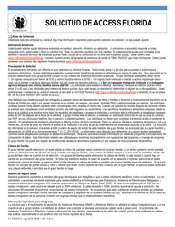 "Formulario CF-ES2337S ""Solicitud De Access Florida"" - Florida (Spanish)"