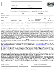 "Form MDHS-EA-900 ""Temporary Assistance for Needy Families (TANF) Application Supplemental Nutrition Assistance Program (Snap) Application"" - Mississippi"