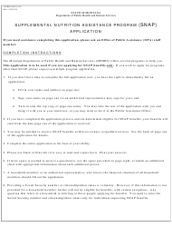 "Form DPHHS-HCS-252 ""Supplemental Nutrition Assistance Program (Snap) Application"" - Montana"