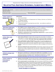 """Formulario JFS07200-SPA """"Solicitud Para Asistencia Economica, Alimentaria O Medica"""" - Ohio (Spanish)"""