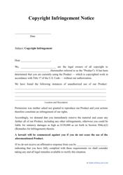 """Copyright Infringement Notice Template"""
