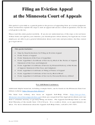 """Filing an Eviction Appeal at the Minnesota Court of Appeals"" - Minnesota"