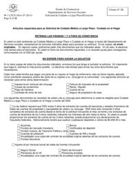 """Formulario W-1 LTCS """"Solicitud De Cuidado a Largo Plazo/Exencion"""" - Connecticut (Spanish)"""