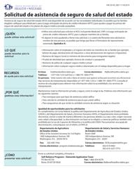 """Formulario HW2014S """"Solicitud De Asistencia De Seguro De Salud Del Estado"""" - Idaho (Spanish)"""