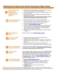 """""""Solicitud Para Cobertura De Salud & Ayuda Para Pagar Costos"""" - Wyoming (Spanish)"""