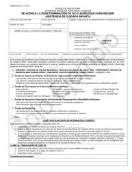 """Sample Formulario OCFS-4773-S """"Se Acerca La Redeterminacion De Su Elegibilidad Para Recibir Asistencia De Cuidado Infantil"""" - New York (Spanish)"""