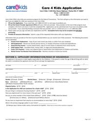 """""""Care 4 Kids Application"""" - Connecticut"""
