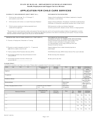 "Form DHS911 ""Application for Child Care Services"" - Hawaii"