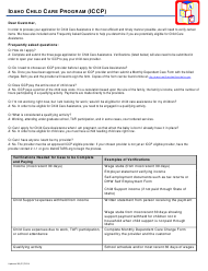 "Form HW0217 ""Application for Child Care Assistance"" - Idaho"