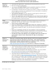 "Form JFS01138 ""Application for Child Care Benefits"" - Ohio"