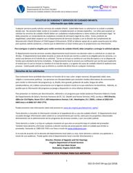 """Formulario 032-25-0147-04-SPA """"Solicitud De Servicios Para Subsidio De Cuidado Infantil Y Formulario De Una Nueva Determinacion"""" - Virginia (Spanish)"""
