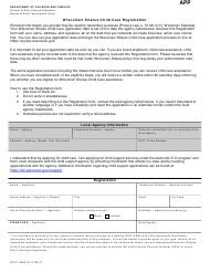 "Form DCF-F-2835 ""Wisconsin Shares Child Care Registration"" - Wisconsin"