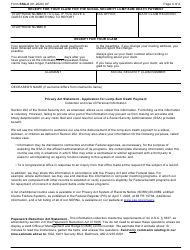 """Form SSA-8 """"Application for Lump-Sum Death Payment"""", Page 4"""