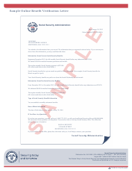 "Sample ""Social Security Verification Letter"""