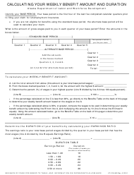 """Form 07-210-802 """"Calculating Your Weekly Benefit Amount and Duration"""" - Alaska"""