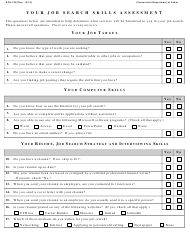 "Form DOL-128 ""Job Search Skills Assessment Form"" - Connecticut"