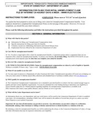 """Form UC-62 T """"Unemployment Separation Package"""" - Connecticut"""