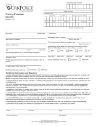 "Form 60-0192 ""Training Extension Benefits"" - Iowa"