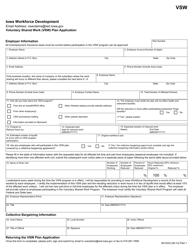 "Form 60-0333 ""Voluntary Shared Work (Vsw) Plan Application"" - Iowa"