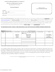"Form NC CLM506E ""Work Search Record"" - North Carolina"