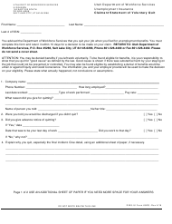 "DWS-UI Form 680Q ""Claimant Statement of Voluntary Quit"" - Utah"